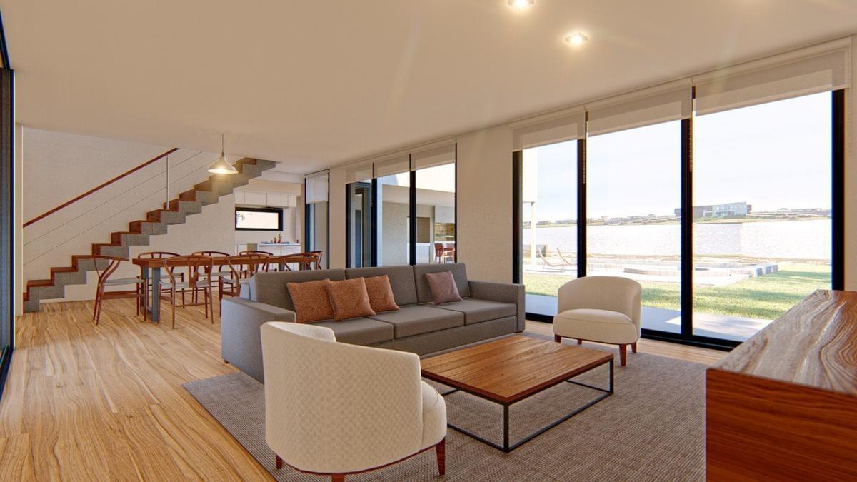 venta. casa estilo moderno de calidad y diseño. barrio vistas. puertos del lago.