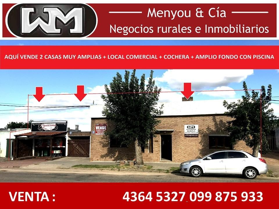 venta casa florida casupa 2 casas+comercio inmobilia menyou
