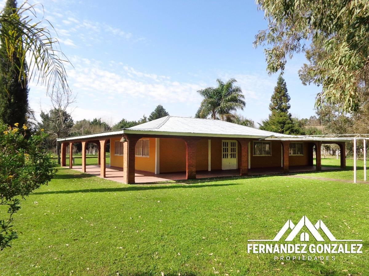 venta casa quinta de 12.000 m2 en paraje la capilla. varela