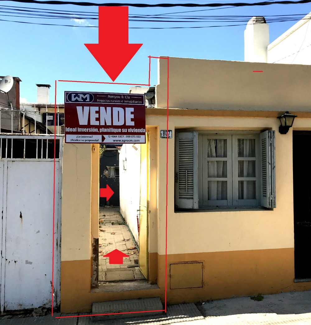 venta casa trinidad flores 2 dormitorios + patio inmo menyou