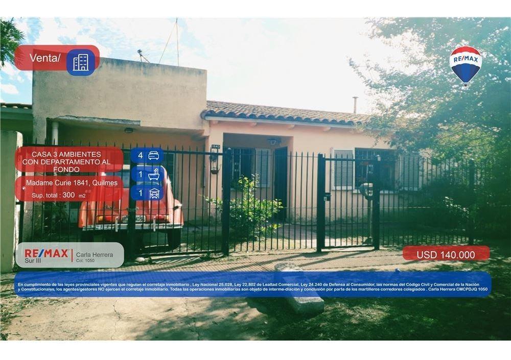 venta casas sobre terreno propio quilmes oeste