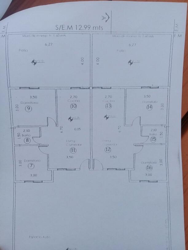 venta chalet calle 6 e/88 y 89 pozo 3 ambientes mar del tuyu