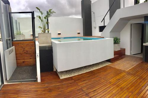 venta con renta monoambiente balcón, parrilla propia, amenities - palermo
