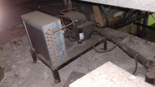venta congelador de acero con 2 motores