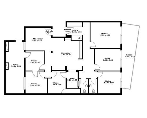 venta consultorio / oficinas 150 m en once con cochera doble.
