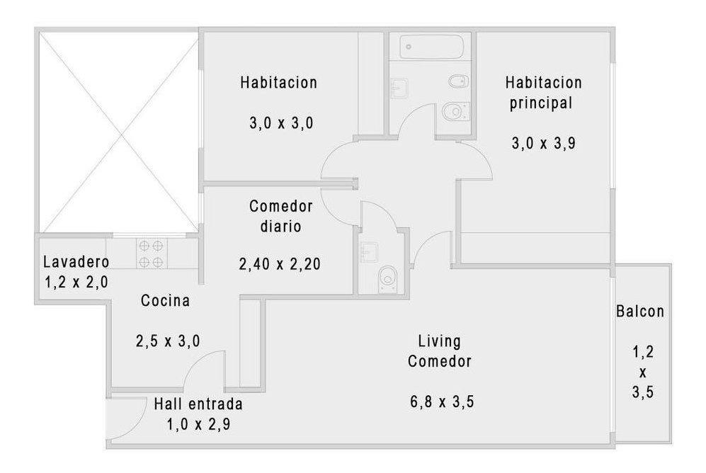 venta de 3 ambientes en barrio norte totalmente a nuevo