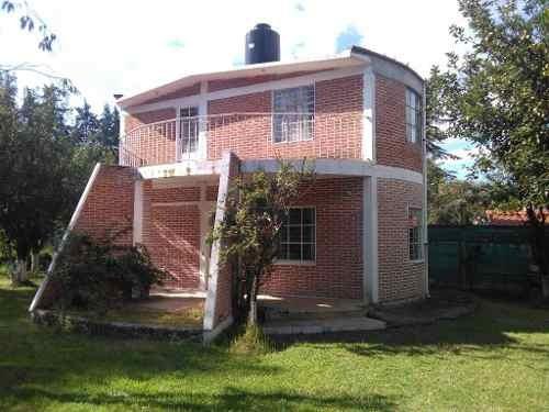 venta de acogedora casa con huerta frutal y cancha de tenis en tlahuapan, puebla