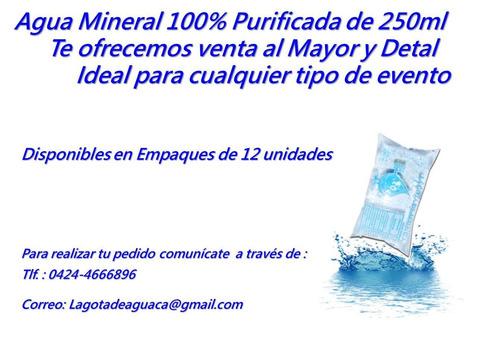 venta de agua mineral 100% purificada al mayor y detal
