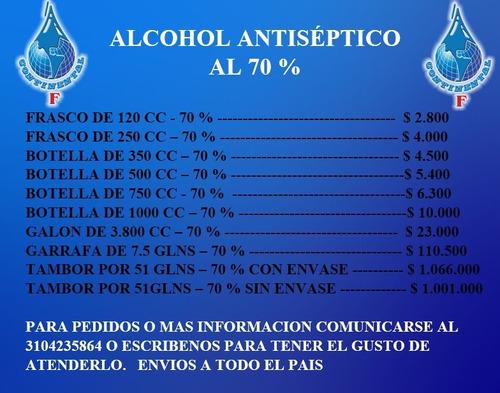 venta de alco....... antiseptico al 70 %