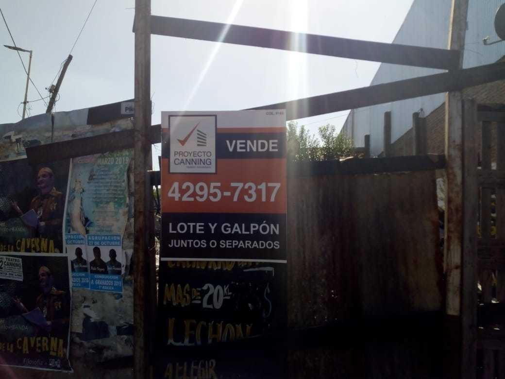 venta de amplio lote en zona comercial de canning!!!