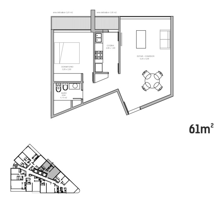 venta de apartamento 1 dormitorio punta del este!
