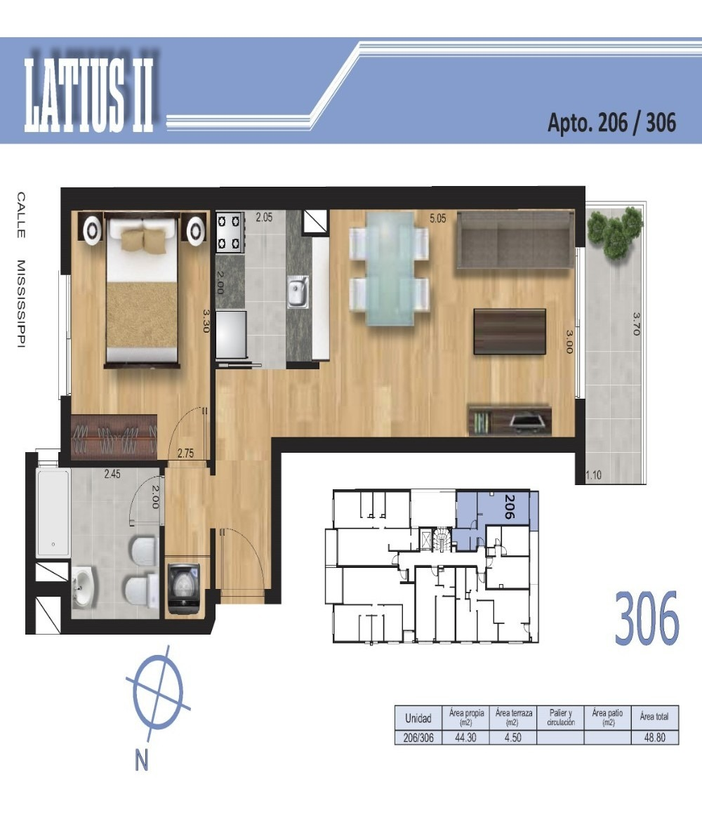 venta de apartamento de 1 dormitorio con terraza en malvin