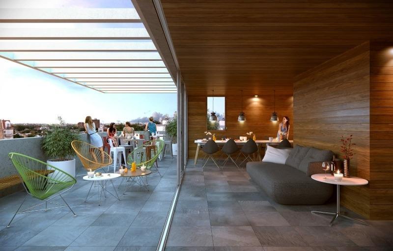 venta de apartamento de 2 dormitorios más terraza y cochera