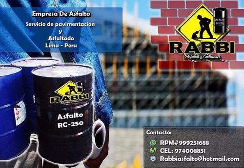 venta de asfalto rc-250, mc-30, mantos asfálticos, alquitrán