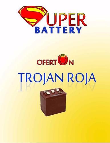 venta de baterias para  inversor marca  trojan roja
