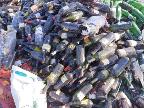 venta de botellas y vidrios en gral