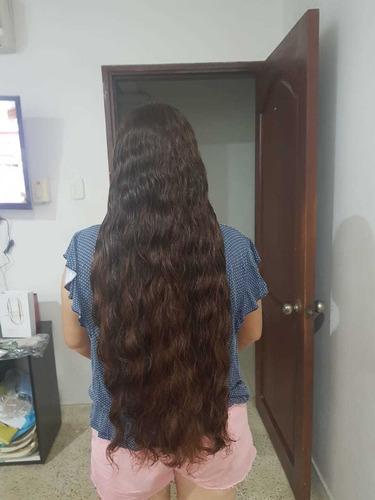 venta de cabello 100% natural es pelirojo ondulado