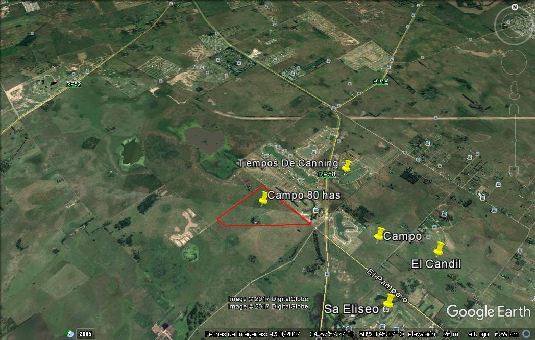 venta de campo 80 hectareas en canning