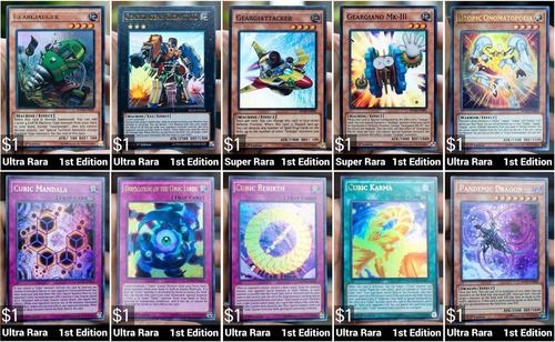venta de cartas yugioh por unidad