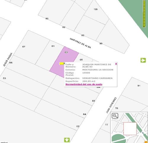 venta de casa como terreno col. moctezuma 1a sección