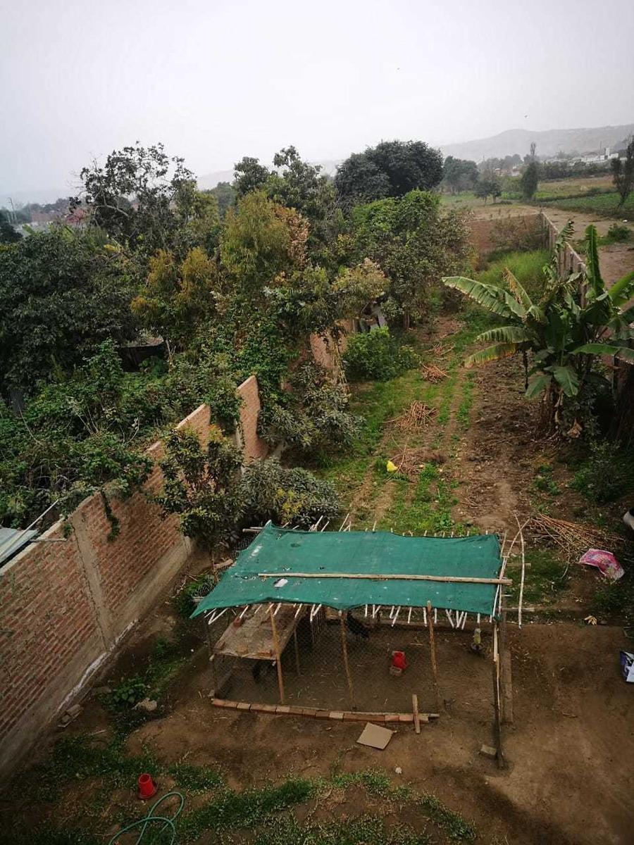 venta de casa terreno - campiña huacho - escritura publica