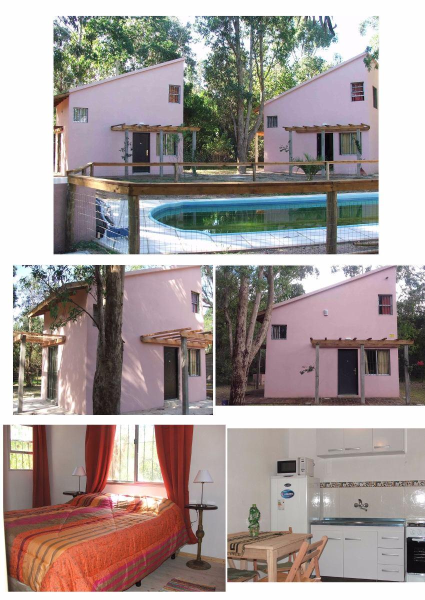 venta de casa y 3 cabañas. invertí en uruguay u$s 198000.-