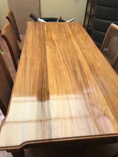 venta de comedor de 8 puestos de madera de cenizaro