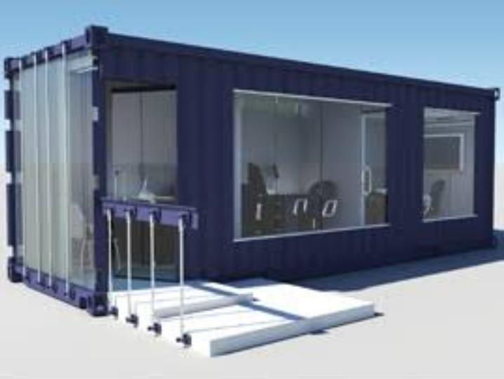 Venta de contenedores oficina o casa s 1 00 en mercado for Diseno de oficinas con contenedores