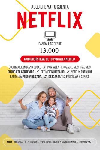 venta de cuentas netflix (100% legales)