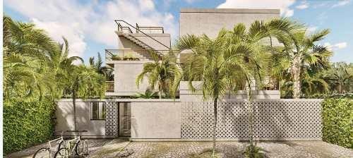 venta de departamento con terraza en tulum, q.r., ikal