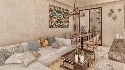 venta de departamento con terraza y jardín en ikal tulum