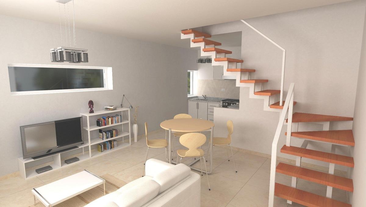 venta de departamento duplex 1 dormitorio con terraza exclusiva. 86 m2.