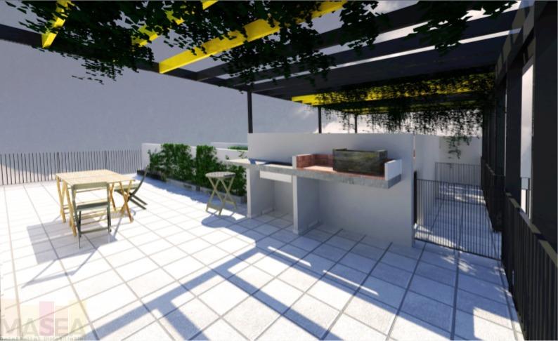 venta de departamento monoambiente con balcon al frente