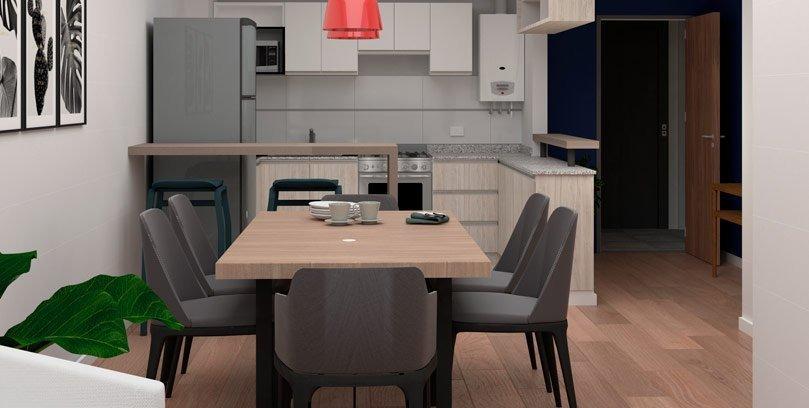 venta de departamento monoambiente  de 35 m2 en san martin al 1600. edificio con amenities.