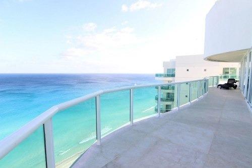 venta de departamento penthouse en cancun frente al mar