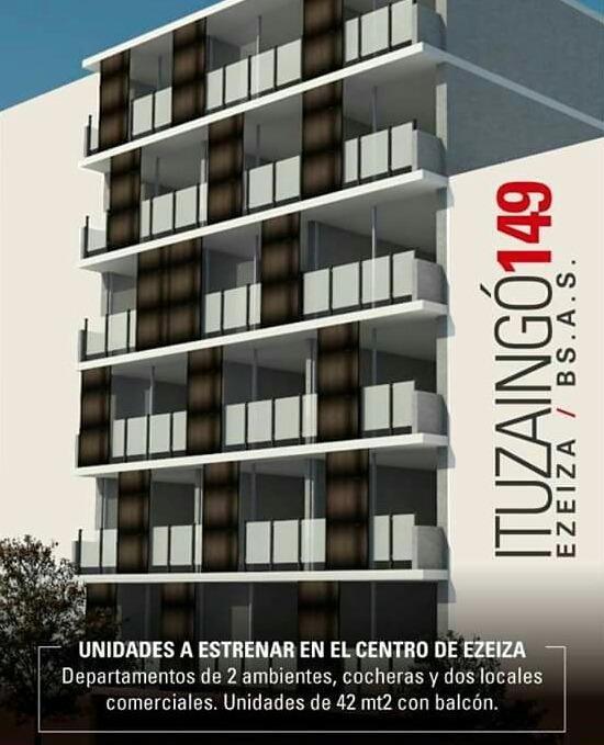venta de departamentos 2 ambientes en construcción, ezeiza.