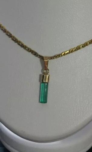 venta de dijes en esmeralda natural engastados en oro de 18