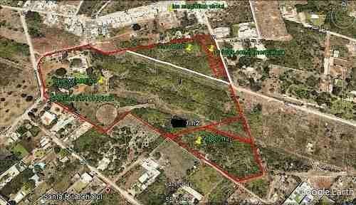 venta de excelente terreno de 7,846 m2 en santa rita cholul!!!