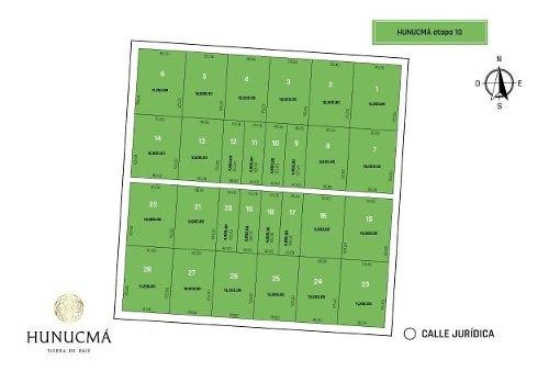 venta de hectareas y medias hectareas en hunucma tierra de raiz