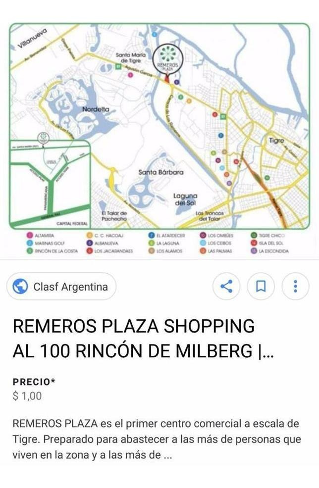venta de local en pb gran oportunidad en remeros plaza tigre