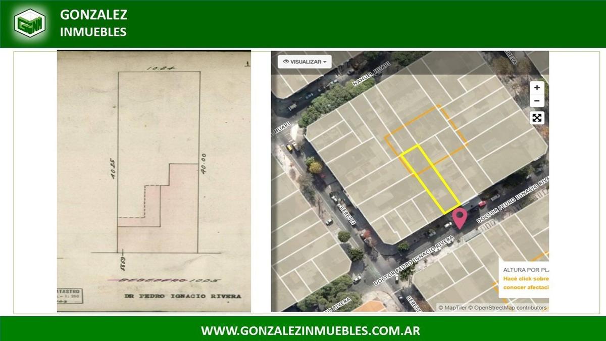 venta de  lote 10m x 40 m - para 861 m2 vendibles + cocheras