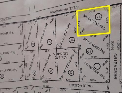 venta de lote de 2200 m2, zona acceso sur. mercedes (b)
