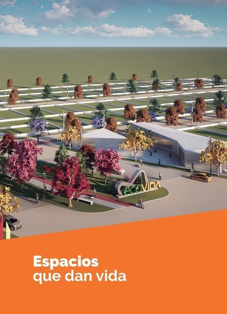 venta de lote en 300 m2 financiados en pesos en ecovida. barrio abierto en villa amelia. sobre avenida. con habilitacion comercial.