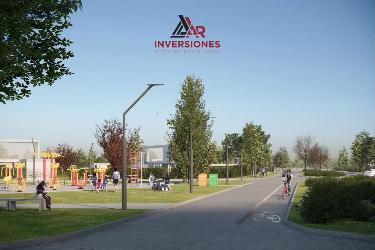 venta de lote en barrio residencial abierto ecotierra terreno financiado en pesos. lote de 300 m2. entrega y 36 cuotas.