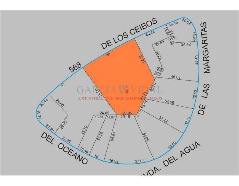 venta de lote en golf único lote de 3959 m2- ref: 2661