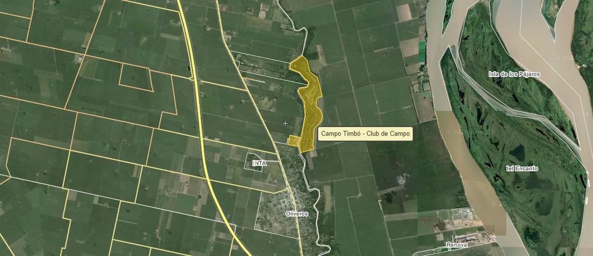 venta de lote en oliveros - campo timbo - entrega inmediata