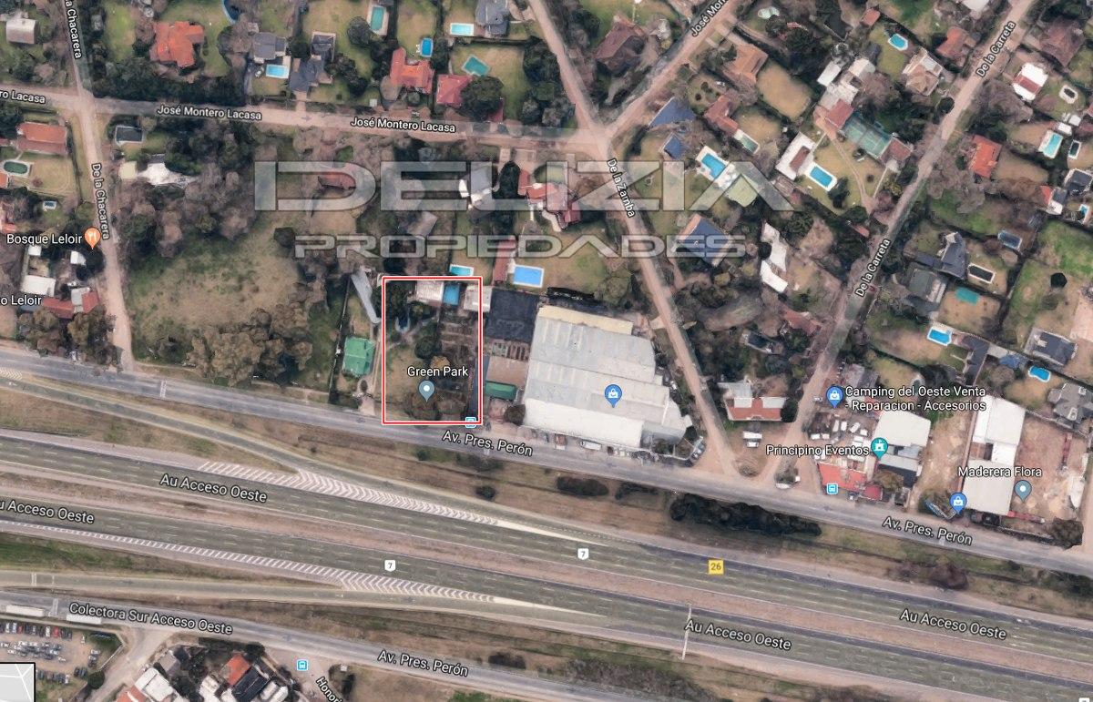 venta de lote en parque leloir ituzaingo- colectora (1080m2)