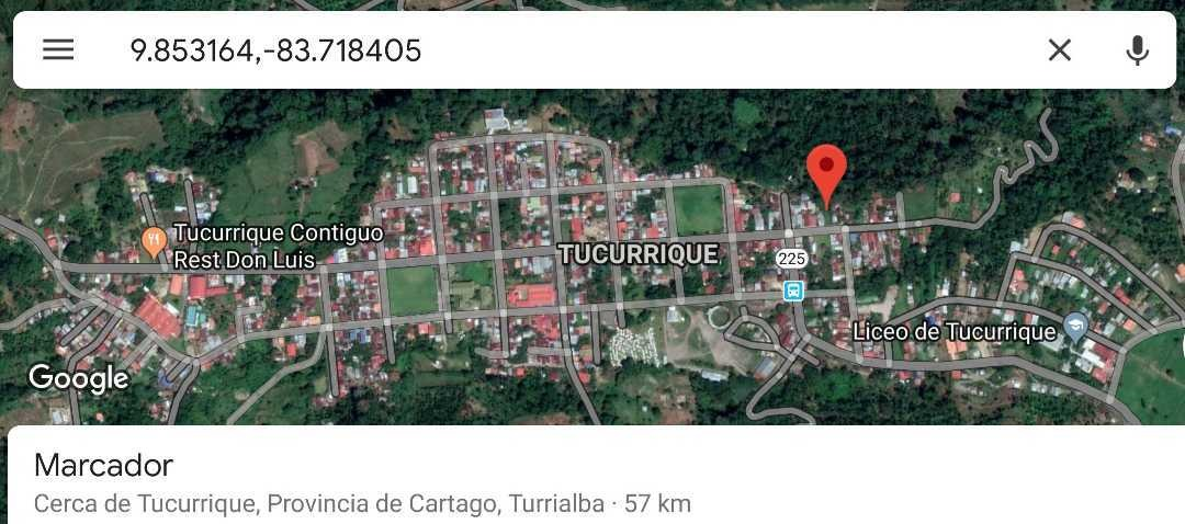 venta de lote tucurrique cartago 21 m negociable