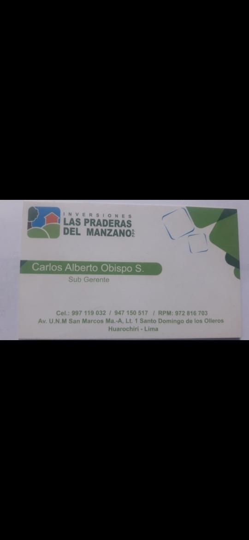 venta de lotes (a 20 min del distrito de pachacamac)