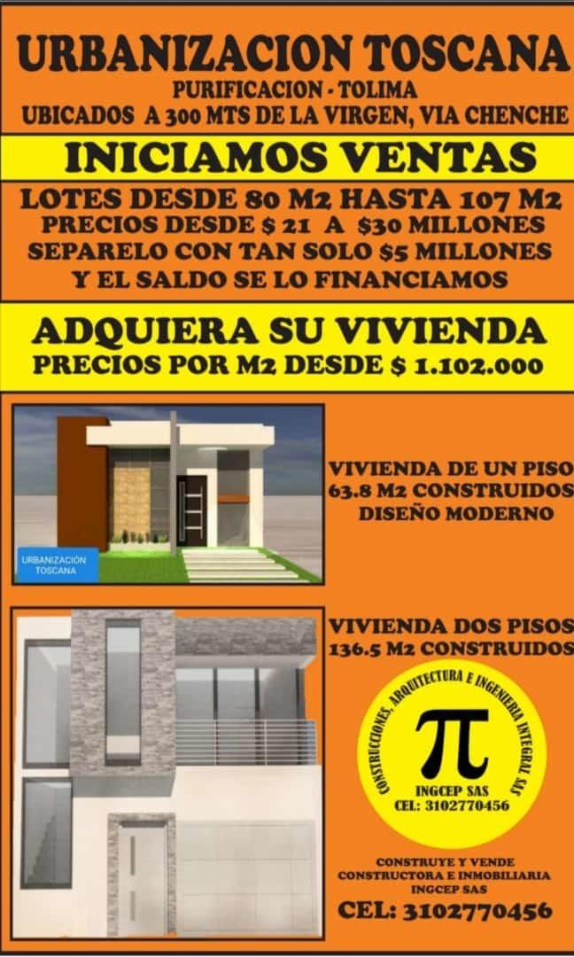 venta de lotes desde 84 m2 a 107 m2